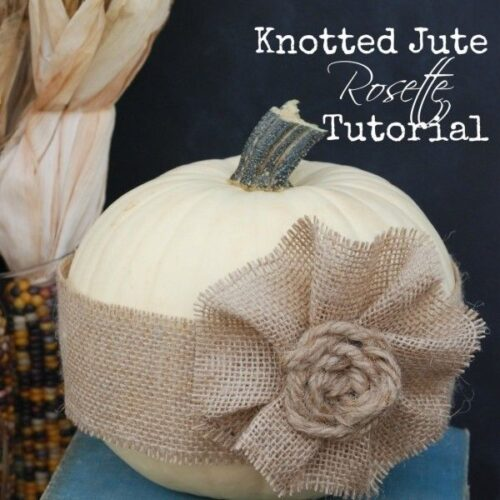 Knotted Jute Rosette Pumpkin from Endlessly Inspired