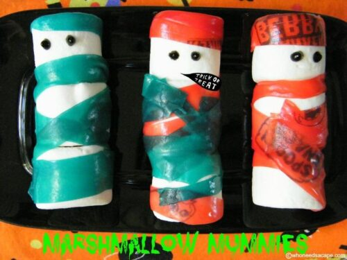 Marshmallow Mummies from Who Needs A Cape