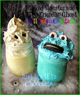 Spiked Monster Halloween Cocktail Recipe from Just Dip It In Chocolate