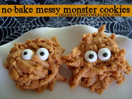 {no-bake} Messy Monster Cookies from Shaken Together