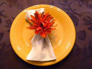 Thanksgiving Recycled floral napkin ring from Make it easy crafts