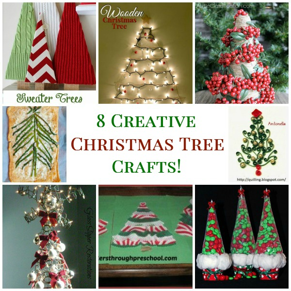8 Creative Christmas Tree Crafts!