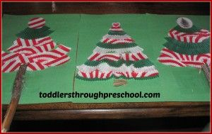 Cupcake Liner Christmas Trees from Toddlers Through Preschool