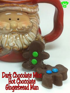 Dark Chocolate Mint Hot Chocolate Gingerbread Man from Kims Kandy Kreations