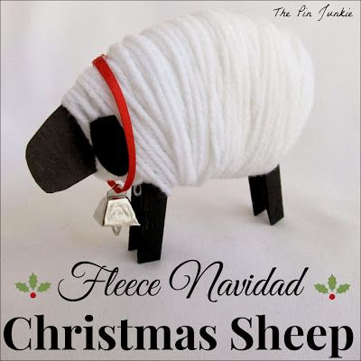 Feliz Navidad Christmas Sheep from The Pin Junkie