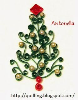 Quilled Paper Scrolled Christmas Tree from Quilling, Art, And Expression