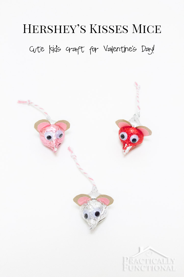 Such a cute and easy kid's craft, all you need is kisses, paper, string, googly eyes, and non-toxic glue!
