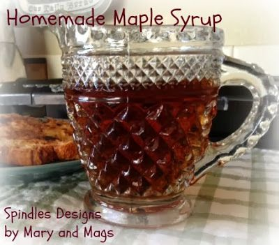 Homemade Maple Syrup from Spindles Designs by Mary & Mags