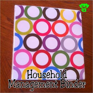 Household Management Binder from Kims Kandy Kreations