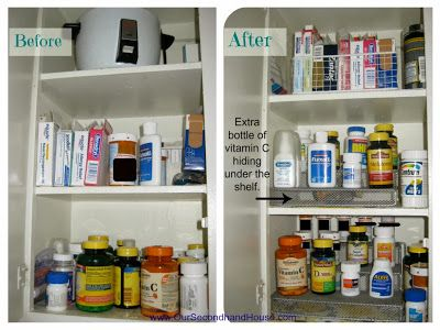 Organized Medicine Cabinet from Our Secondhand House