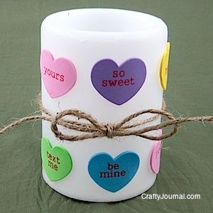 Valentine Heart Candle from Crafty Journal