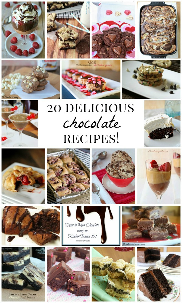 20 Delicious Chocolate Recipes!