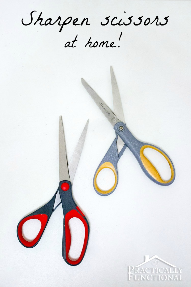 How to sharpen scissors at home: Sandpaper sharpens the blades as well as smooths out nicks and dings!