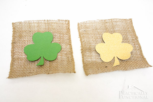 How To Make A St. Patrick's Day Shamrock Bunting-3