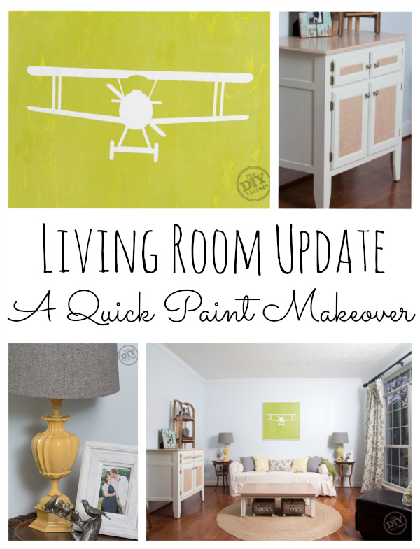 Living Room Update - Quick Paint Makeover