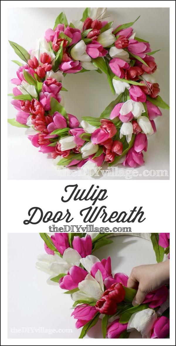 Tulip Door Wreath Tutorial