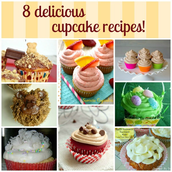 8 simple and delicious cupcake recipes!