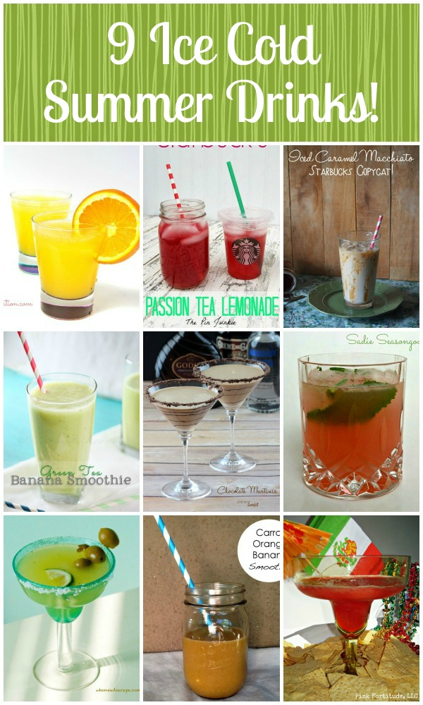 9 Ice Cold Summer Drink Recipes!
