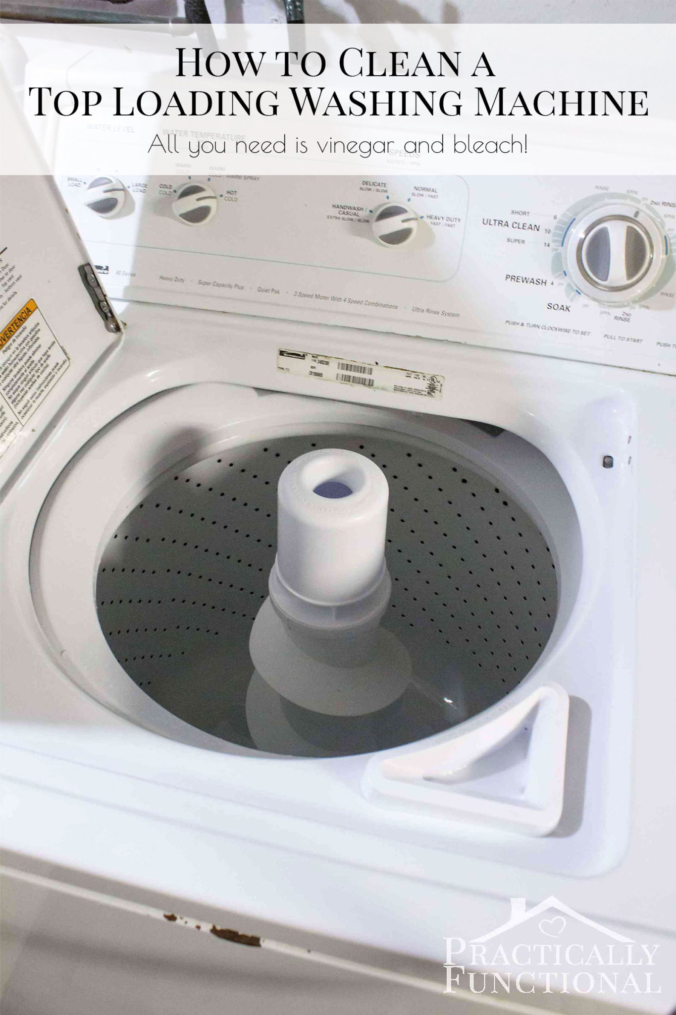 How to clean a washing machine with vinegar and bleach - Just two wash cycles and you're done!