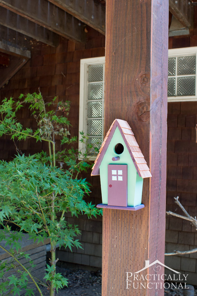 Simple-DIY-Painted-Birdhouse-13 Painted Bird Houses Designs Ideas on home office design ideas, painted bird house craft, painted wood bird house, painted bird house with cat, computer nerd gift ideas, painted wood craft ideas, painted dresser ideas, pet cool house ideas, painted furniture, painted red and white bird, painted owl bird house, jewelry designs ideas, painted bird house roof, painted decorative bird houses designs, painted gingerbread house craft,