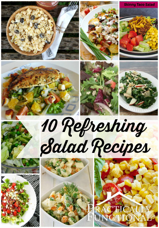 The possibilities are endless when it comes to creating the perfect, light, refreshing salad; here are 10 amazing salad recipes for you!