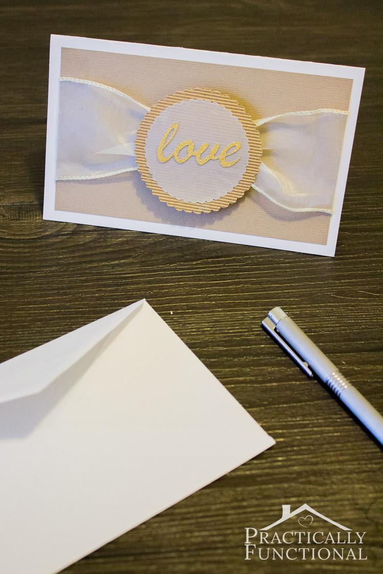 DIY Love Wedding Card Free Cut File