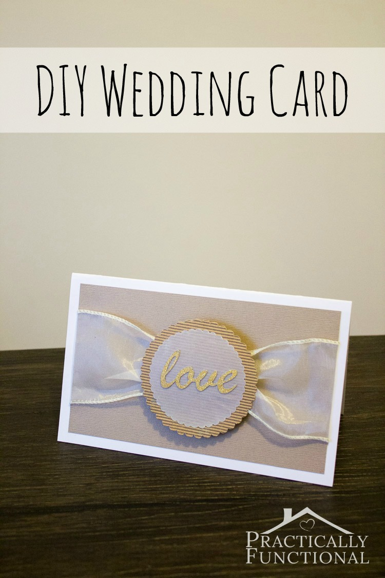 Make Your Own DIY Love Wedding Card With Ribbon And