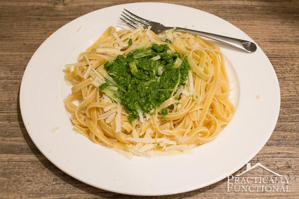 Homemade Organic Basil Pesto