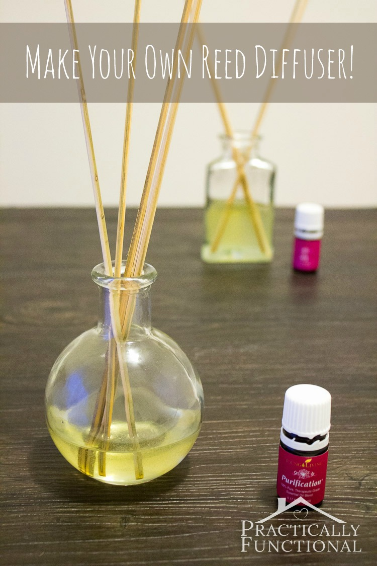 How To Make Your Own Reed Diffuser: Reed diffusers are easy to make and work great to freshen the air in your home!