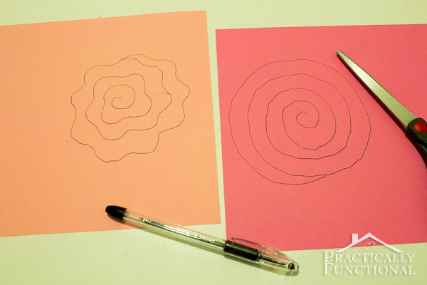 Simple Spiral Paper Flowers