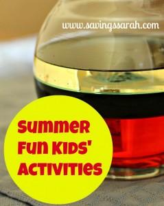 Summer Fun Kids' Activites by Savings Sarah