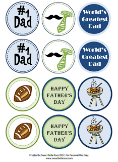 Fathers Day Cupcake Toppers from Sweet Bella Roos
