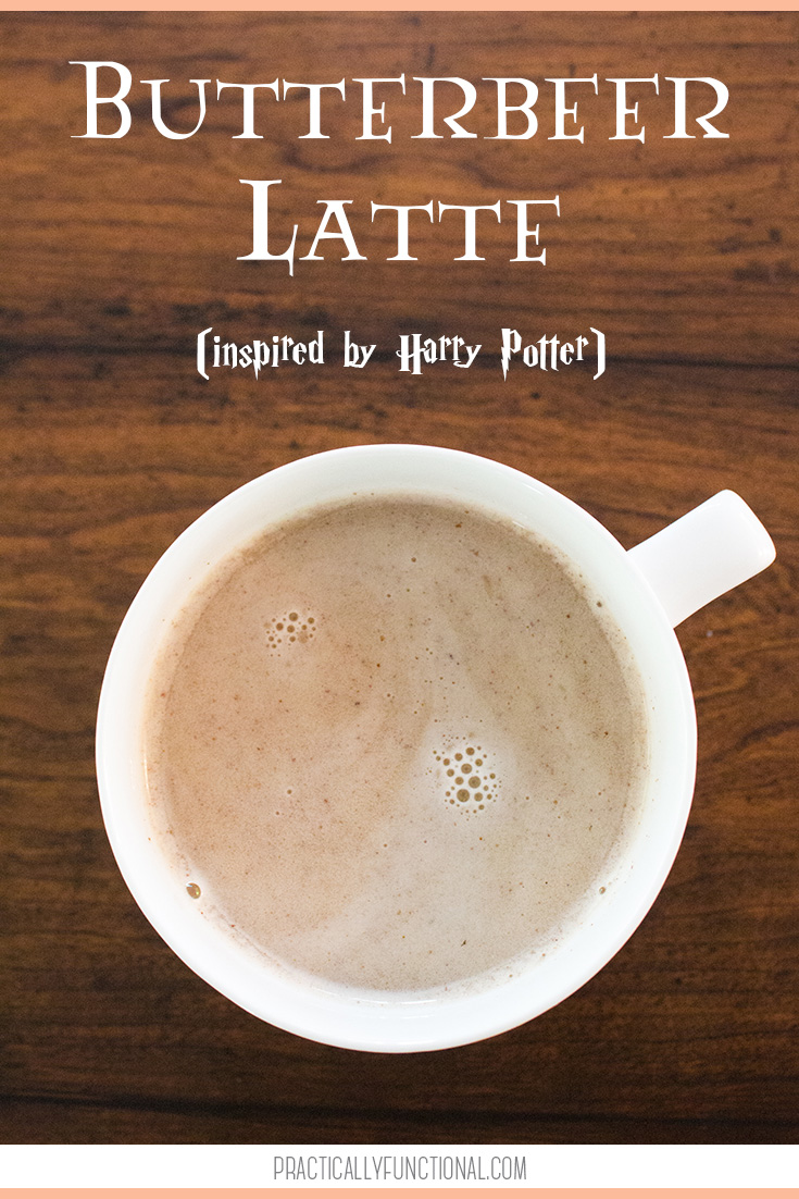 Butterbeer latte recipe inspired by Harry Potter