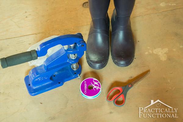 DIY Lace Up Rain Boots-5