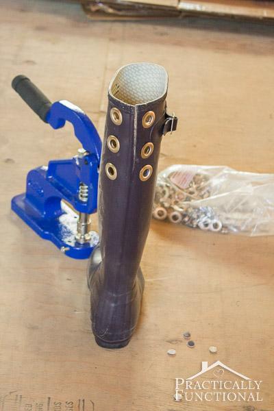 DIY Lace Up Rain Boots-8