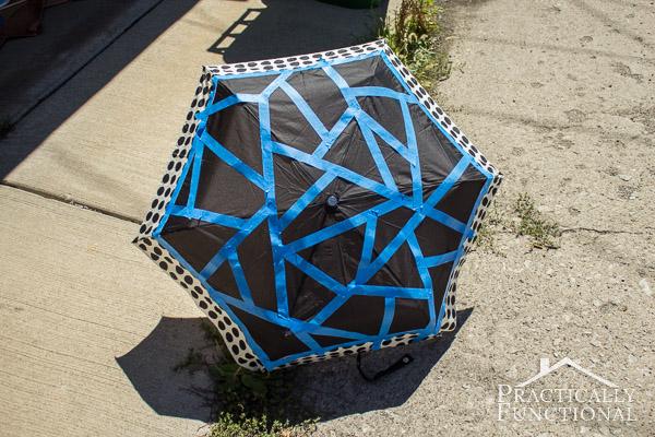 Neon Color Block Umbrella-5