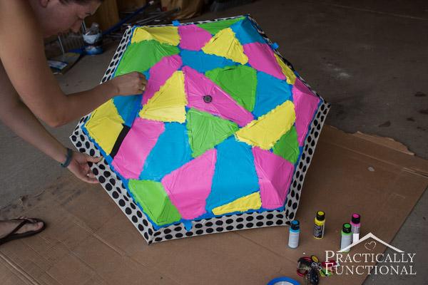Neon Color Block Umbrella-7