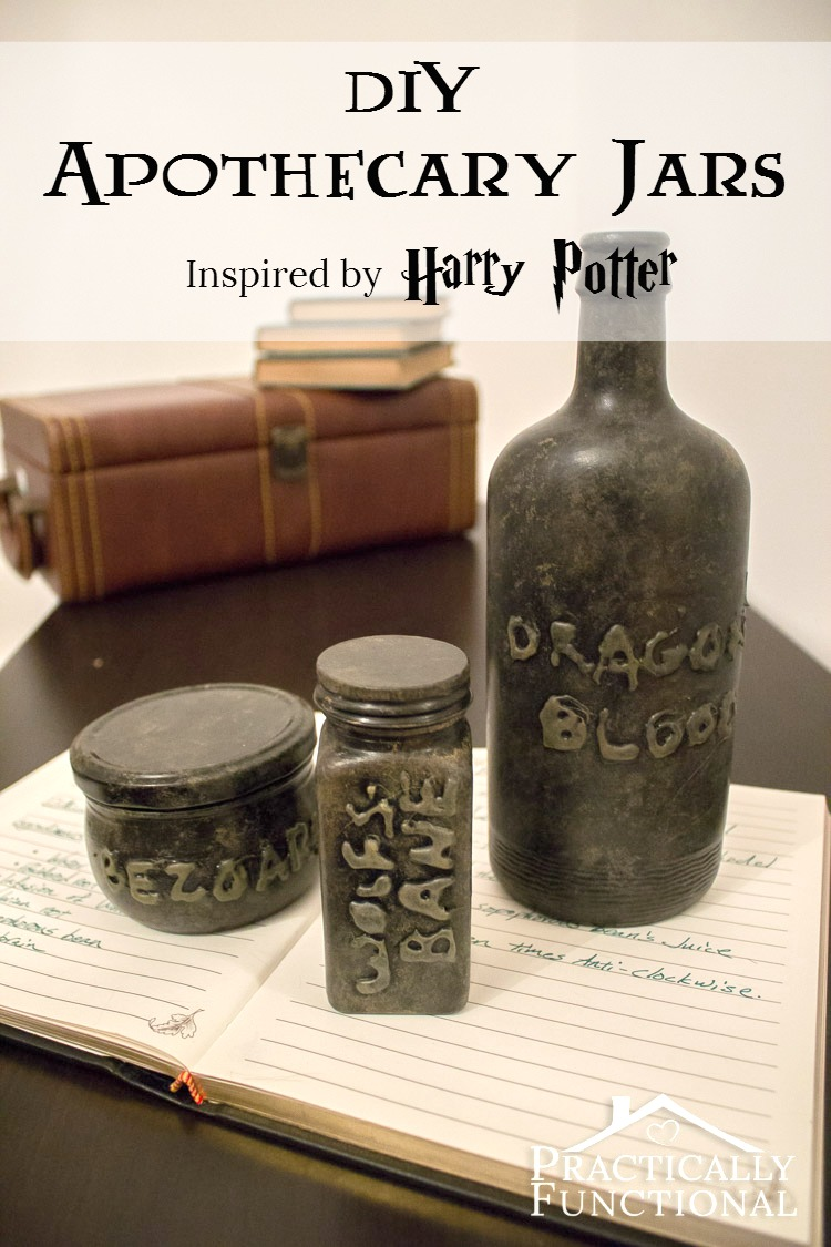 Diy Halloween Apothecary Jars Practically Functional