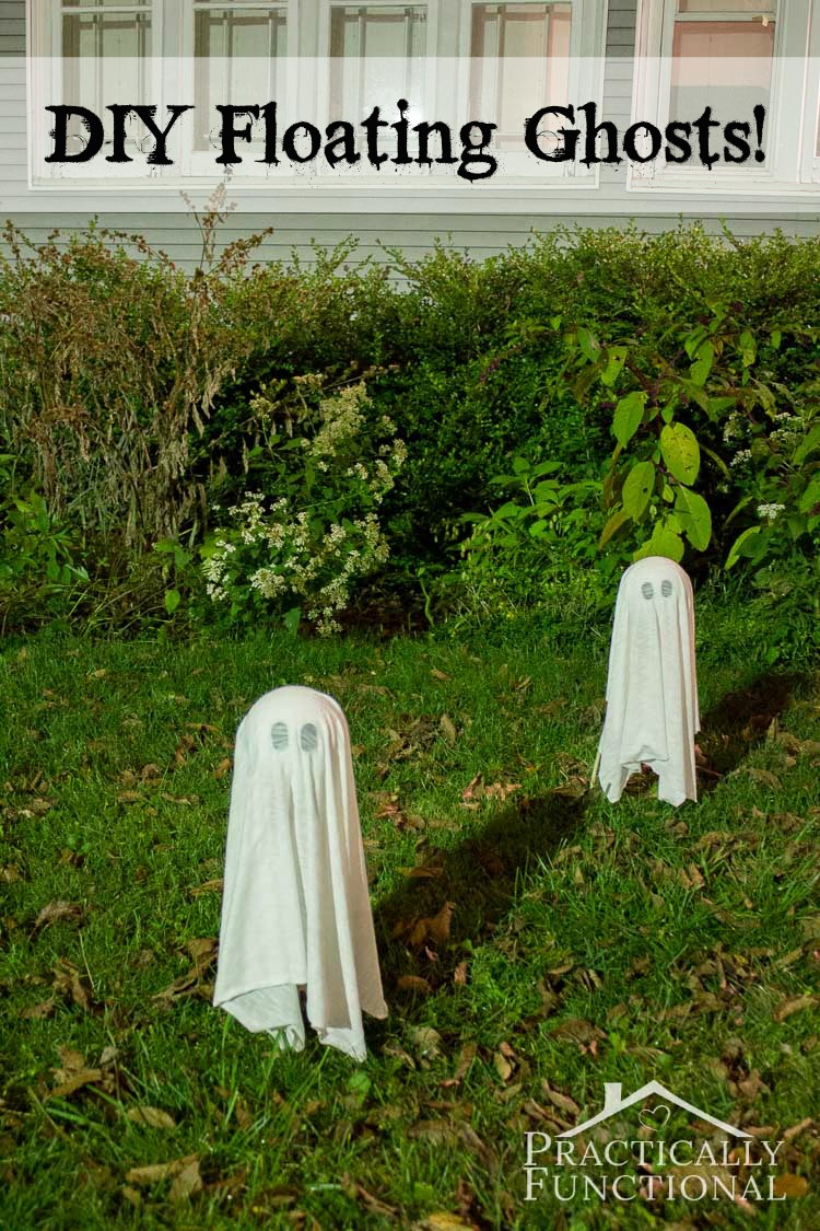 Halloween Yard.Diy Floating Halloween Ghosts For Your Yard