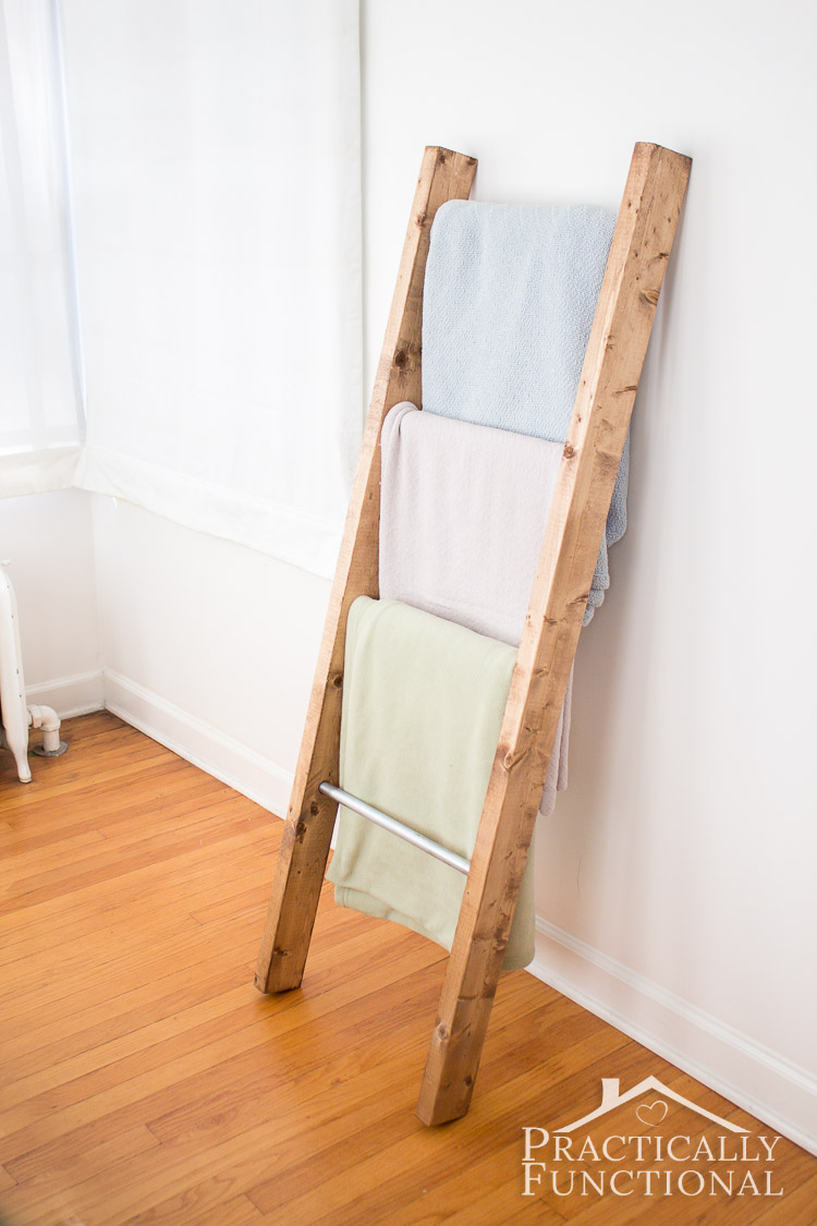 How To Make A Blanket Ladder: Functional storage and pretty decor all in one!