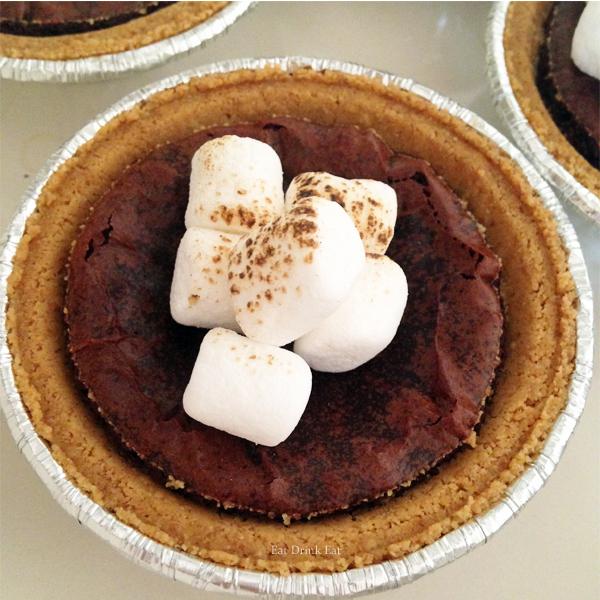 Smores Brownie Recipe from EatDrinkEat.com