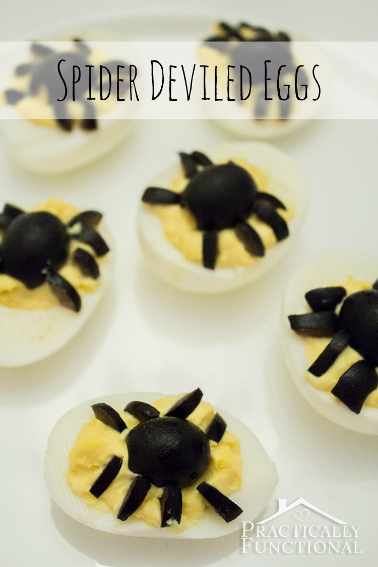 Spider deviled eggs, too cute!