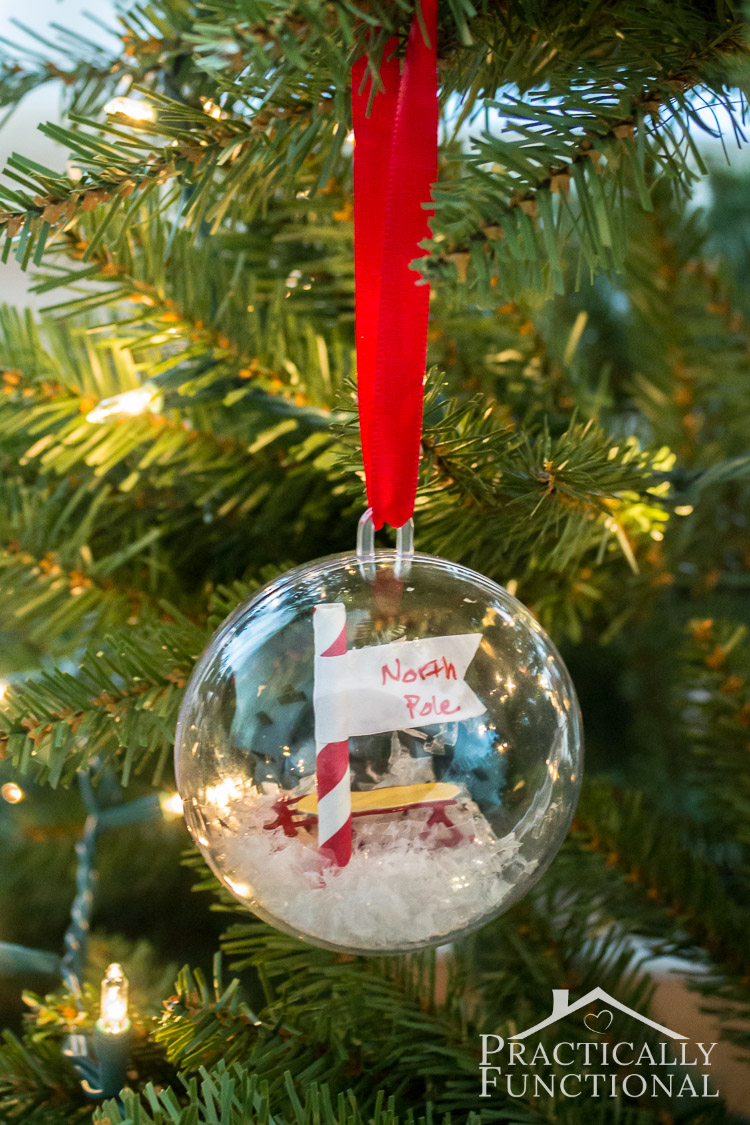 DIY North Pole Christmas Ornaments