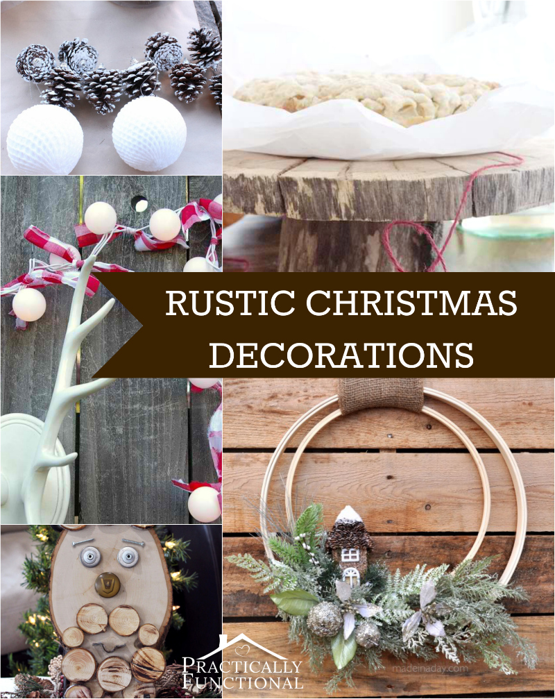 & 10 DIY Rustic Christmas Decorations