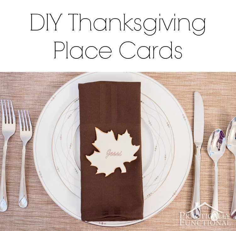 10 minute DIY Thanksgiving place cards! Plus a free printable template!