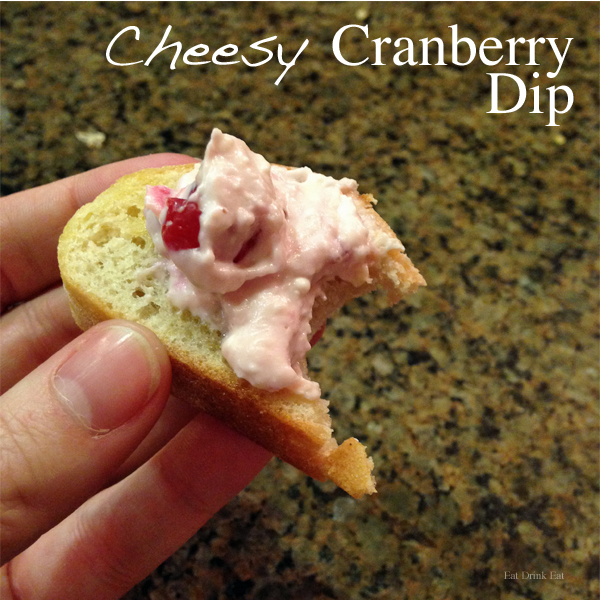 Super Cheesy Cranberry Dip Recipe from EatDrinkEat.com