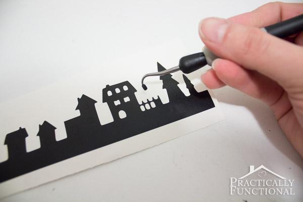 DIY Snowy Silhouette Candle Jar-9