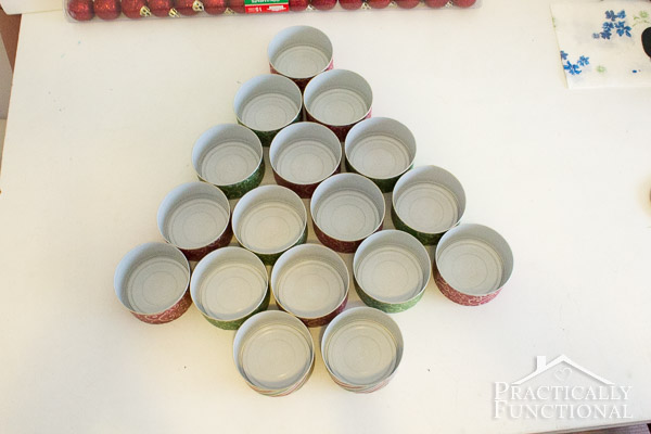 Recycled Tin Can Christmas Tree-9