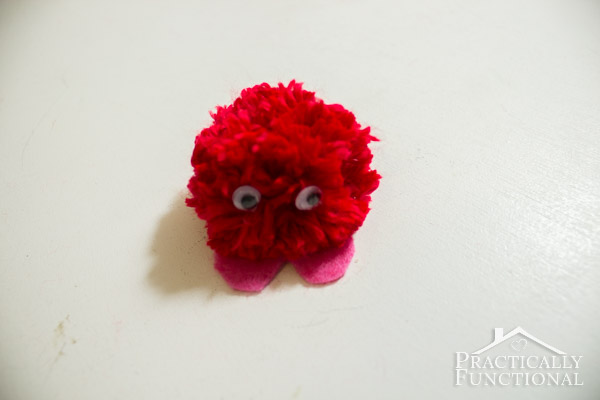 How To Make Valentine's Day Pom Pom Monsters-12