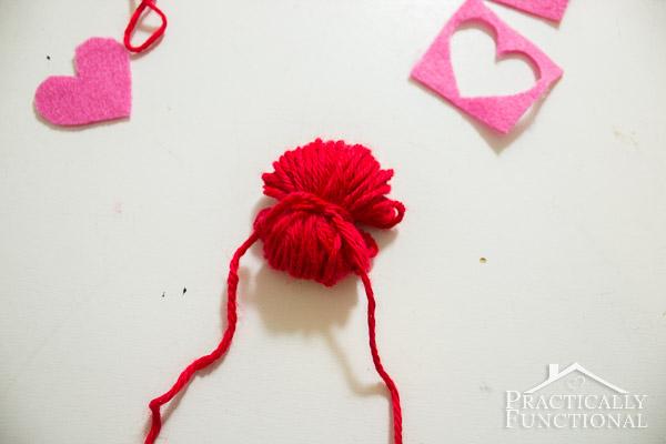 How To Make Valentine's Day Pom Pom Monsters-8